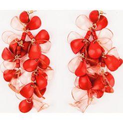 Kolczyki damskie: NA-KD Accessories Wiszące kolorowe kolczyki – Red