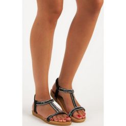 Sandały damskie: Czarne sandały na gumkę QUEEN VIVI czarne