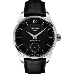 PROMOCJA ZEGAREK TISSOT T-CLASSIC T070.406.16.057.00. Czarne zegarki męskie marki TISSOT, ze stali. W wyprzedaży za 5825,60 zł.