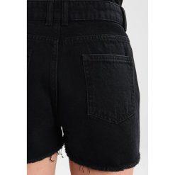 Bermudy damskie: Even&Odd Szorty jeansowe black denim