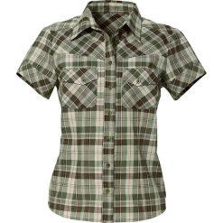 Bluzki asymetryczne: Bluzka, krótki rękaw bonprix oliwkowy-zgniła zieleń w kratę