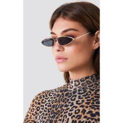 Okulary przeciwsłoneczne damskie: NA-KD Trend Okulary przeciwsłoneczne z mostkiem – Black