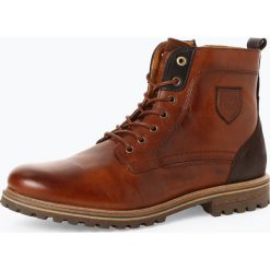 Pantofola d`Oro - Kozaki męskie ze skóry – Ponzamo, brązowy. Brązowe buty zimowe męskie Pantofola d`Oro, ze skóry. Za 629,95 zł.