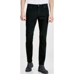 Jeansy męskie: Jack & Jones LIAM  Jeans Skinny Fit black denim