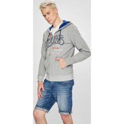 Pepe Jeans - Bluza Jerry. Szare bejsbolówki męskie Pepe Jeans, l, z nadrukiem, z bawełny, z kapturem. W wyprzedaży za 299,90 zł.