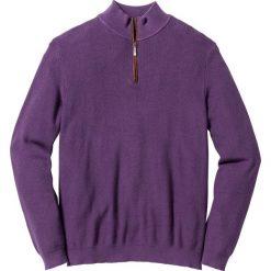 Sweter ze stójką Regular Fit bonprix jagodowy. Fioletowe golfy męskie marki bonprix, m. Za 49,99 zł.