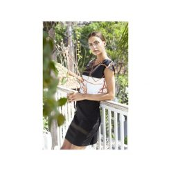 Sukienka geometryczna. Białe sukienki na komunię Manifesto art clothes, na co dzień, l, w abstrakcyjne wzory, z tkaniny, proste. Za 180,00 zł.