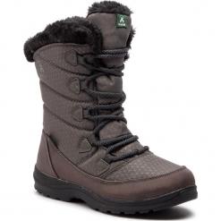 Śniegowce KAMIK - Polarjoy NK2175 Charcoal. Szare buty zimowe damskie Kamik, z materiału, na niskim obcasie. W wyprzedaży za 289,00 zł.