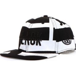 Czapka męska snapback czarno-biała (hx0180). Białe czapki z daszkiem męskie marki Dstreet, z haftami, eleganckie. Za 69,99 zł.