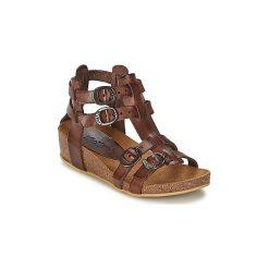 Sandały Dziecko  Kickers  BOMDIA. Niebieskie sandały dziewczęce marki Kickers, z kauczuku, na sznurówki. Za 239,20 zł.