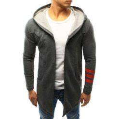 Bluzy męskie: Bluza męska narzutka z kapturem antracytowa (bx3242)