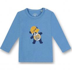 Koszulka w kolorze błękitnym. Białe t-shirty chłopięce z długim rękawem marki UP ALL NIGHT, z bawełny. W wyprzedaży za 37,95 zł.