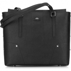Torebka damska 87-4E-429-1. Czarne shopper bag damskie Wittchen, na ramię, zdobione. Za 499,00 zł.