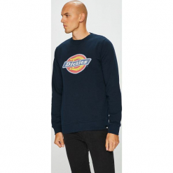 Dickies - Bluza. Czarne bluzy męskie rozpinane marki Dickies, l, z nadrukiem, z bawełny, bez kaptura. W wyprzedaży za 159,90 zł.