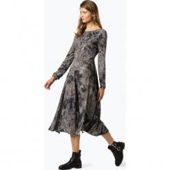 Review - Sukienka damska, biały. Szare sukienki z falbanami marki Review, l, z tkaniny, z okrągłym kołnierzem. Za 219,95 zł.