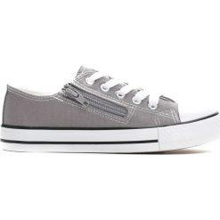 Szare Trampki Made Off. Szare buty sportowe chłopięce marki Born2be, z materiału, z okrągłym noskiem, na zamek. Za 29,99 zł.
