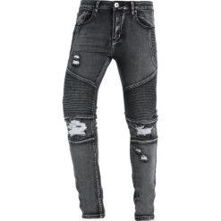 Liquor N Poker DISTRESSED BIKER Jeans Skinny Fit washed black. Czarne rurki męskie Liquor N Poker. Za 169,00 zł.