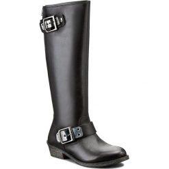 Kozaki ANDIAMO - 14202 Black. Czarne buty zimowe damskie marki Andiamo, ze skóry, na obcasie. W wyprzedaży za 299,00 zł.