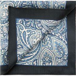 Poszetka 85-7P-X01-X5. Niebieskie poszetki męskie Wittchen, z jedwabiu, eleganckie. Za 59,00 zł.