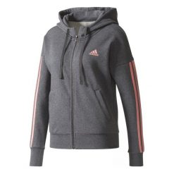 Adidas Bluza Ess 3 Stripes Full Zip Hoodie Dark Grey Heather/Tactile Rose Xs. Brązowe bluzy rozpinane damskie marki Adidas, xs, z bawełny, z kapturem. W wyprzedaży za 189,00 zł.
