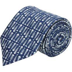 Krawat platinum granatowy classic 255. Niebieskie krawaty męskie Recman. Za 49,00 zł.