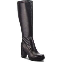 Kozaki LASOCKI - KAMELIA-01 Black. Czarne buty zimowe damskie marki Lasocki, ze skóry. Za 299,99 zł.
