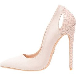 Szpilki: Lost Ink POLLY TEXTURED BACK COURT SHOE Szpilki nude