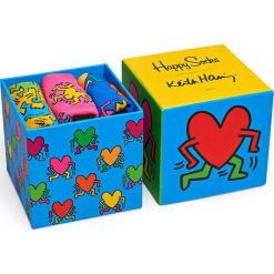 Skarpetki damskie: Happy Socks – Skarpetki Keith Haring Sock Box Set (3-pak)