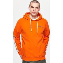 Odzież męska: Bluza z taśmami - Pomarańczowy