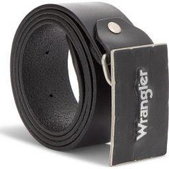 Pasek Męski WRANGLER - Metal Buckle Belt W0B588301 85 Black. Czarne paski męskie Wrangler, w paski, ze skóry. W wyprzedaży za 169,00 zł.