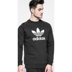 Adidas Originals - Bluza Trefoil Crew. Czarne bluzy męskie rozpinane adidas Originals, l, z nadrukiem, z bawełny, bez kaptura. Za 249,90 zł.