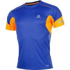 Salomon Koszulka męska AGILE SS TEE M Surf The Web r. XL. Niebieskie koszulki sportowe męskie Salomon, m. Za 94,15 zł.