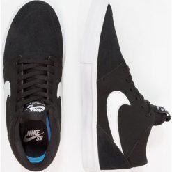 Nike SB PORTMORE II SOLAR MID Tenisówki i Trampki wysokie black/white. Czarne trampki męskie Nike SB, z materiału. W wyprzedaży za 287,10 zł.
