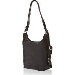 Torebki klasyczne damskie: Skórzana torebka w kolorze czarnym – 25 x 21 x 15 cm