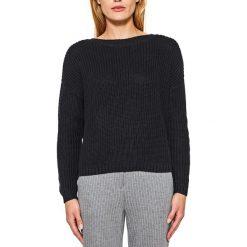 Swetry damskie: Sweter z okrągłym wycięciem szyi z cienkiej dzianiny