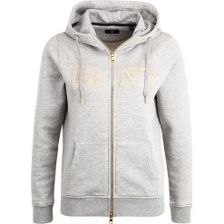 GANT GOLD FULL ZIP HOODIE Bluza rozpinana grey melange. Szare bluzy rozpinane damskie GANT, l, z bawełny. W wyprzedaży za 377,40 zł.