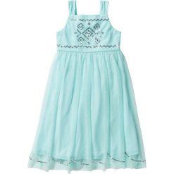 Odzież dziecięca: Sukienka tiulowa z cekinami bonprix pastelowy miętowy