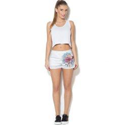 Spodnie damskie: Colour Pleasure Spodnie damskie CP-020 229 białe r. XL/XXL
