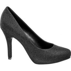 Szpilki damskie Catwalk czarne. Czarne szpilki Catwalk, z materiału. Za 119,90 zł.