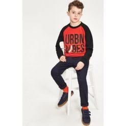 Odzież dziecięca: Bluza z raglanowym rękawem - Pomarańczo