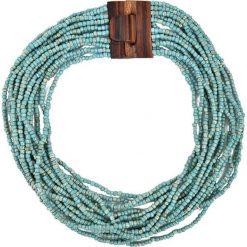 Naszyjniki damskie: Naszyjnik w kolorze turkusowym – (D)57 cm