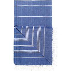 Kąpielówki męskie: Chusta hammam w kolorze niebieskim – 180 x 95 cm