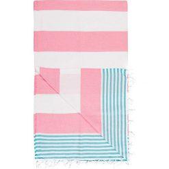Kąpielówki męskie: Chusta hammam w kolorze różowo-niebieskim – 180 x 100 cm