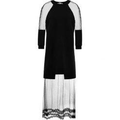 McQ Alexander McQueen HYBRID  Długa sukienka darkest black. Czarne długie sukienki marki McQ Alexander McQueen, m, z bawełny, wizytowe, z długim rękawem. W wyprzedaży za 883,60 zł.