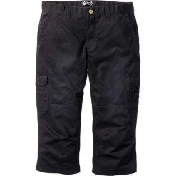 Spodnie bojówki 3/4 bonprix czarny. Czarne bojówki męskie marki bonprix. Za 89,99 zł.