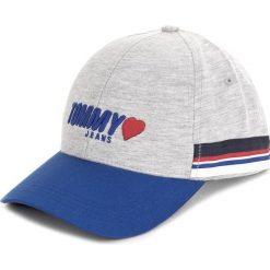 Czapka z daszkiem TOMMY JEANS - Tjw Heart Jersey Cap AW0AW05338 004. Szare czapki z daszkiem damskie marki Tommy Jeans, z jeansu. W wyprzedaży za 129,00 zł.