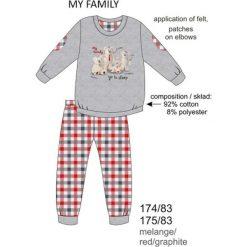 Odzież dziecięca: Piżama chłopięca DR 174/83 My family Melanż szara r. 104