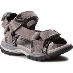 Sandały GEOX - J Borealis B. E J720RE 02215 C1006 Szary. Szare sandały męskie skórzane marki Geox. W wyprzedaży za 179,00 zł.