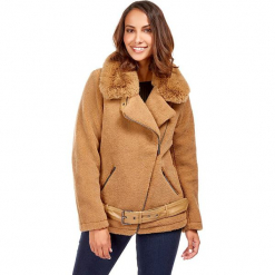 Kurtka zimowa w kolorze beżowym. Brązowe kurtki damskie zimowe marki Snowie Collection, s. W wyprzedaży za 227,95 zł.