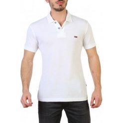 Napapijri Koszulka Polo Męska M Biała. Szare koszulki polo marki Napapijri, l, z materiału, z kapturem. Za 349,00 zł.